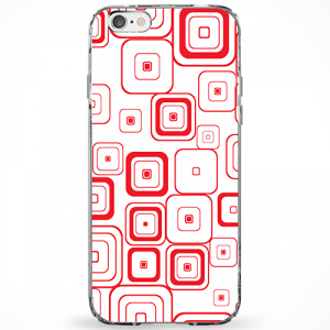 Capinha Abstrato Quadrados Vermelhos