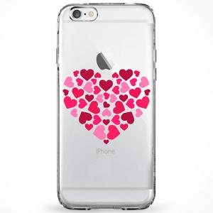 Capinha Corações Tons de Rosa