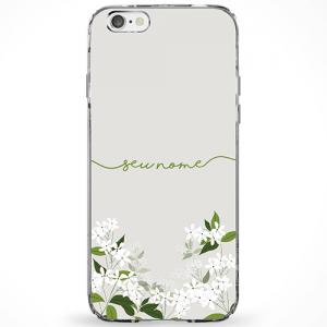 Capinha Flores Verdes Manuscrita