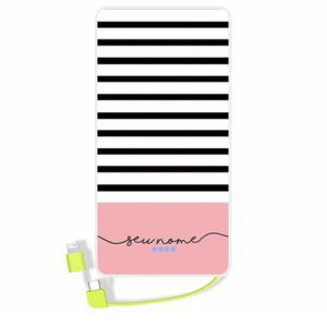 Carregador portatil personalizado com nome – 102