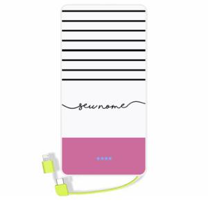 Carregador portatil personalizado com nome – 113