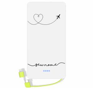 Carregador portatil personalizado com nome – 128